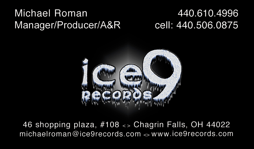 full color business cards ice9 back music production, New York, NYC ...